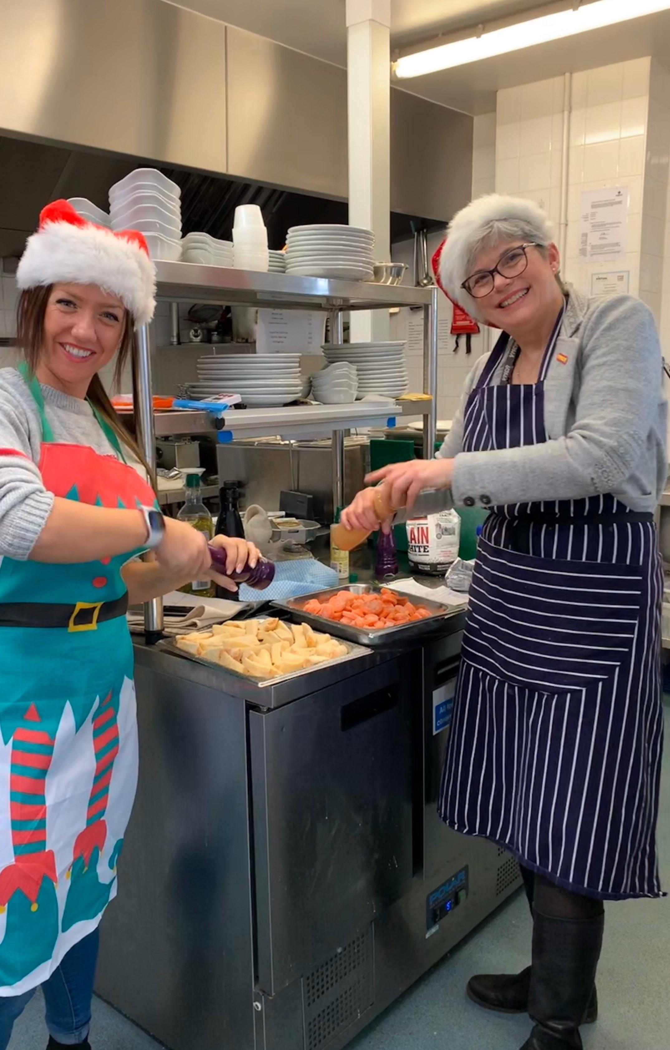 Gabby & Arlene cook lunch
