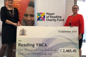 YMCA Reading receive cheque from Mayor of Reading Charity Fund